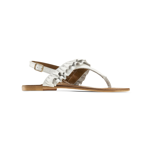 Sandali bassi con volant bata, bianco, 564-1118 - 13