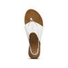 Sandali infradito in pelle bata, bianco, 564-1117 - 15