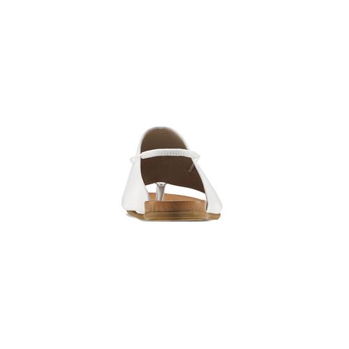 Sandali infradito in pelle bata, bianco, 564-1117 - 16