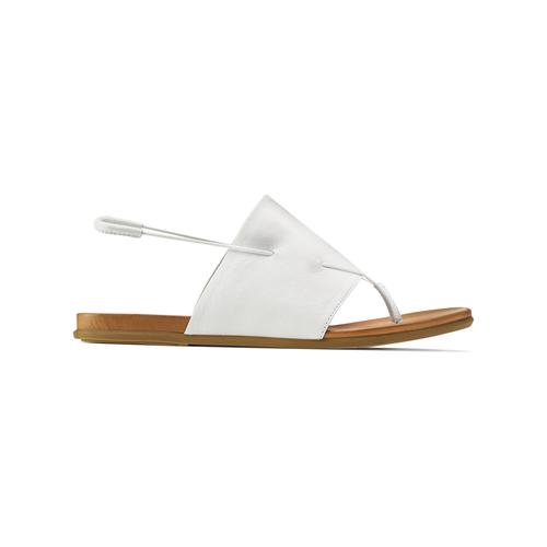 Sandali infradito in pelle bata, bianco, 564-1117 - 26
