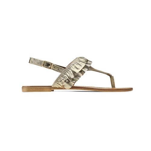 Sandali oro con volant bata, oro, 564-8118 - 26