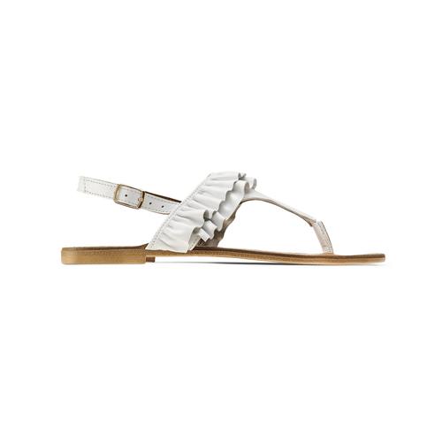 Sandali bassi con volant bata, bianco, 564-1118 - 26