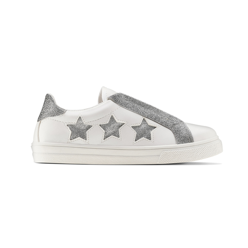 Sneakers bianche con stelle argento, bianco, 324-1306 - 26
