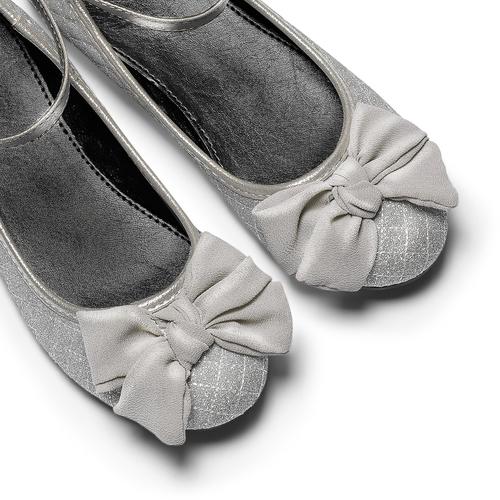 Ballerine glitter con fiocco mini-b, argento, 329-1286 - 19