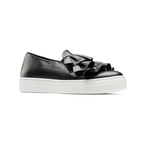 Sneakers in pelle con volant north-star, nero, 514-6135 - 13