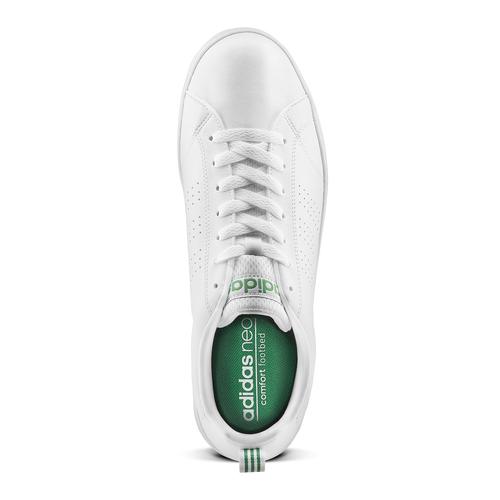 Adidas Neo in pelle sintetica bianca con tre strisce traforate adidas, bianco, 801-1200 - 15