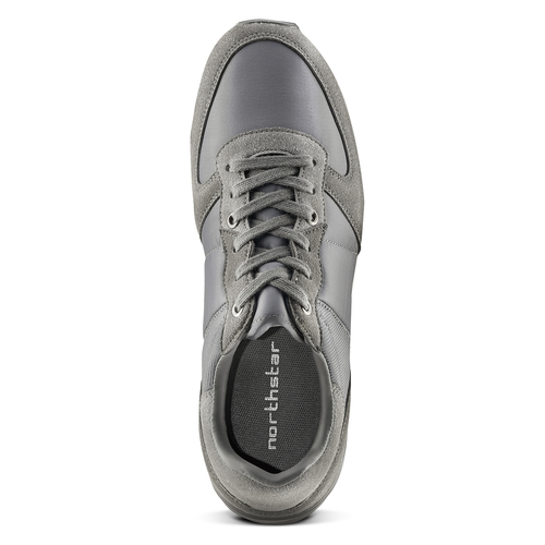Sneakers North Star uomo north-star, grigio, 849-2732 - 15
