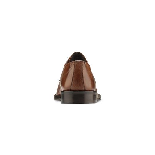 Derby in pelle con punta tonda bata, marrone, 824-3997 - 16