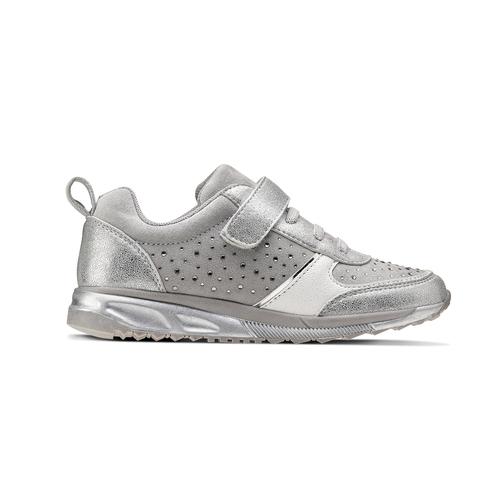 Sneakers con glitter da bambina mini-b, turchese, argento, 329-2295 - 26
