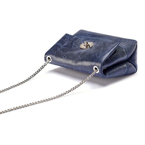 Borsetta in pelle a tracolla bata, blu, 964-9939 - 17