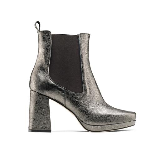 Tronchetti in pelle metallizzata bata, grigio, 794-2147 - 26