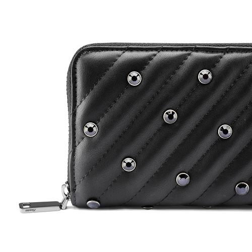 Portafoglio nero con strass bata, nero, 941-6163 - 15