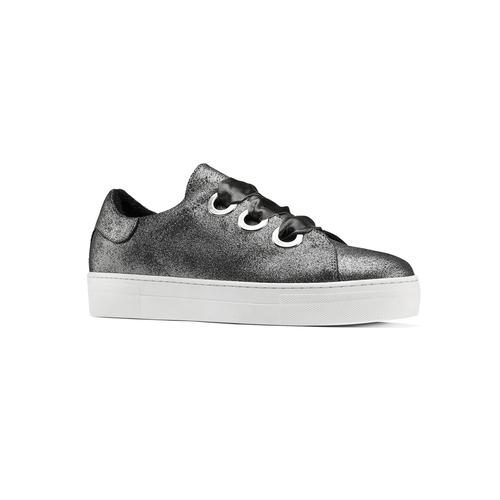 Sneakers metallizzate con lacci in raso north-star, bianco, 543-1359 - 13