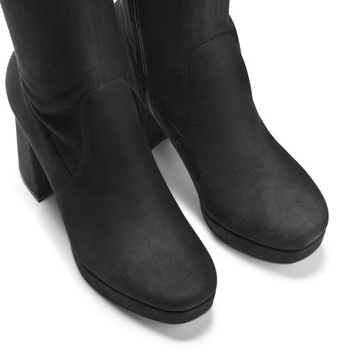 Stivali alti da donna bata, nero, 799-6663 - 15