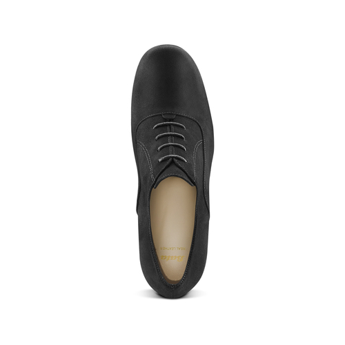 Francesine in suede nera con tacco largo bata, nero, 723-6951 - 15