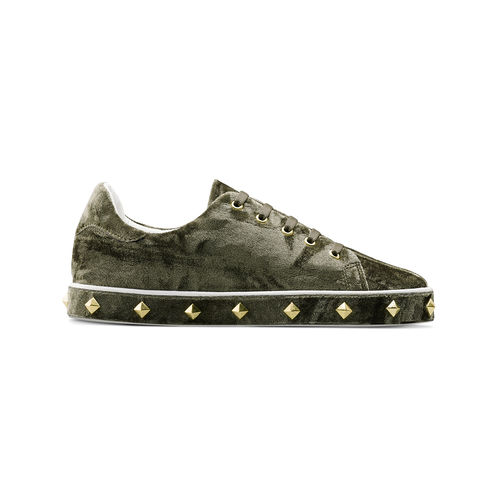 Sneakers in velluto north-star, verde, 549-7112 - 26