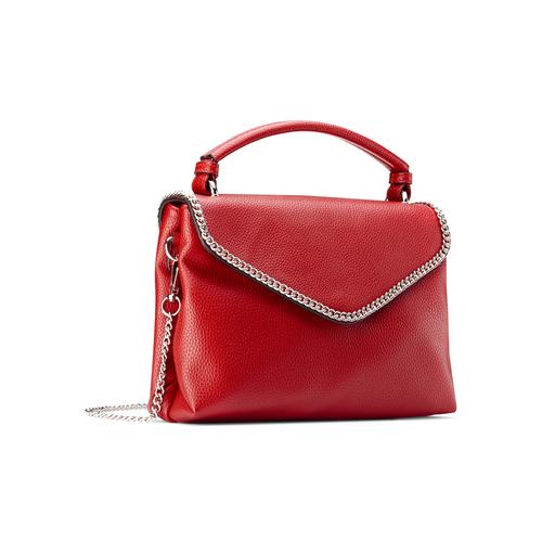 Borsa rossa con manico e tracolla bata, rosso, 961-5172 - 13