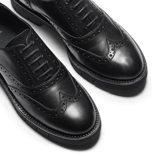 Stringate Oxford in pelle bata, nero, 524-6655 - 19