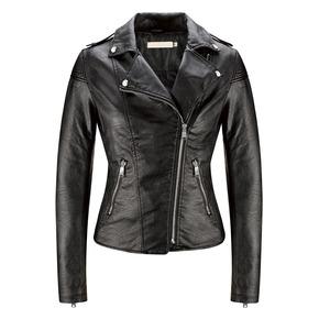 Giacca biker nera bata, nero, 971-6201 - 13