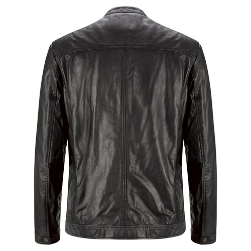 Giacca maschile in pelle bata, nero, 974-6171 - 26