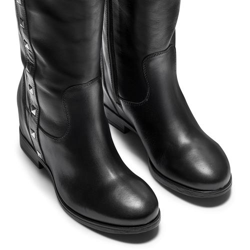 Stivali alti con borchie bata, nero, 694-6411 - 15