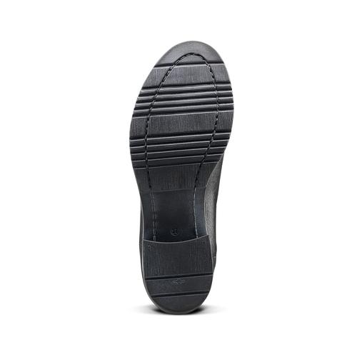 Ankle Boots in pelle con fibbia bata, nero, 694-6420 - 17