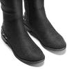 Stivali alti effetto scamosciato bata, nero, 599-6113 - 15
