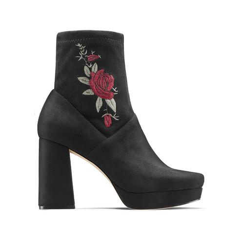 Ankle boots dettaglio rose bata, nero, 799-6157 - 26