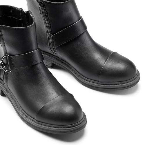 Stivaletti alla caviglia con ganci bata, nero, 591-6155 - 15