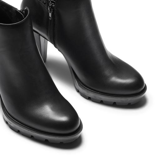 Tronchetti da donna con borchie bata, nero, 791-6666 - 15