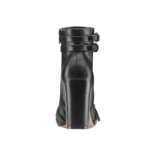 Tronchetti con tacco e fibbie bata, nero, 791-6646 - 16