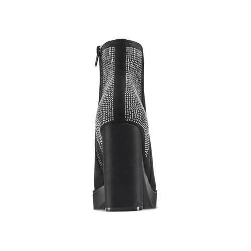 Tronchetti da donna con strass bata, nero, 799-6659 - 16
