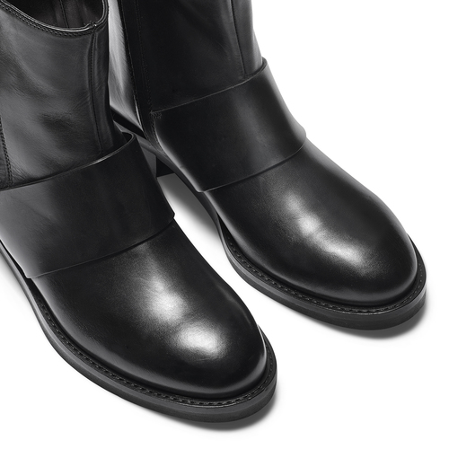 Stivaletti neri in pelle  bata, nero, 594-6330 - 15
