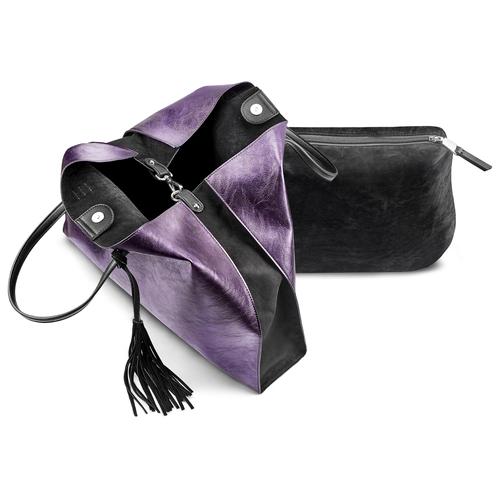 Shopper con borsello removibile bata, viola, 961-5200 - 17