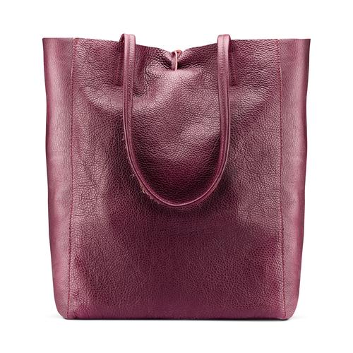Shopper in Vera Pelle bata, rosso, 964-5522 - 26