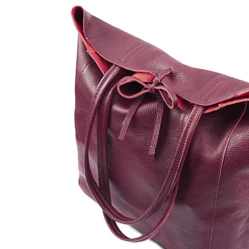 Shopper in Vera Pelle bata, rosso, 964-5522 - 17
