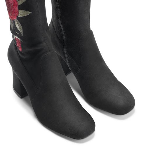 Stivali alti da donna bata, nero, 799-6155 - 15
