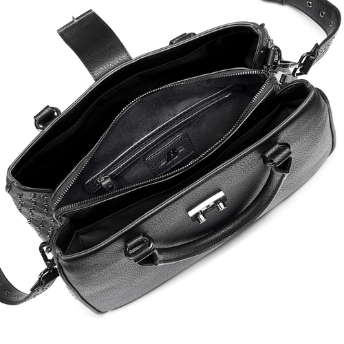 Borsa a mano con borchie bata, nero, 961-6960 - 16