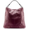 Shopper in pelle bordeaux bata, rosso, 964-5261 - 26