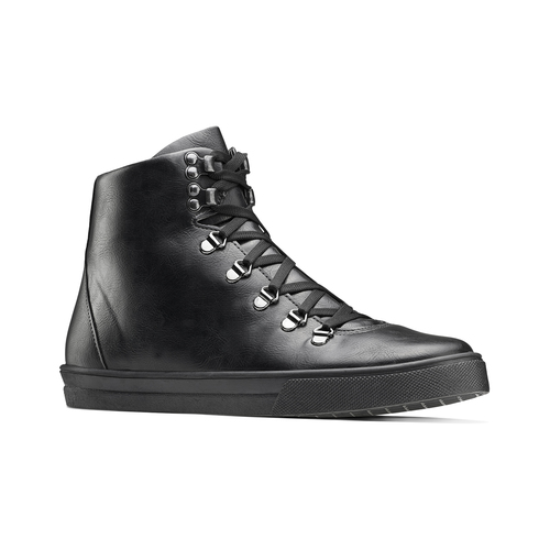 Sneakers alte da uomo north-star, nero, 841-6108 - 13