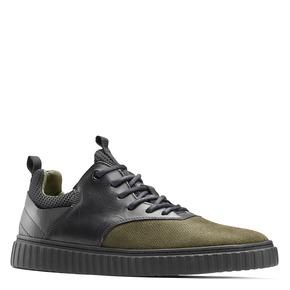Sneakers con lacci da uomo bata, verde, 843-7119 - 13
