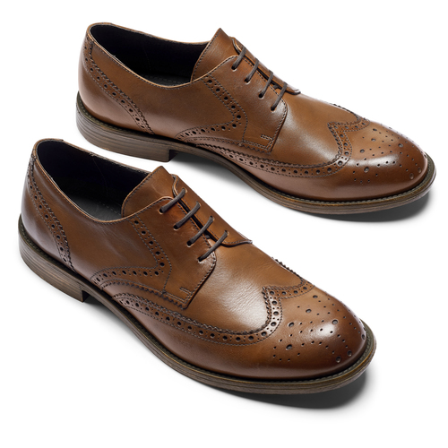 Derby in pelle da uomo bata, marrone, 824-3429 - 19