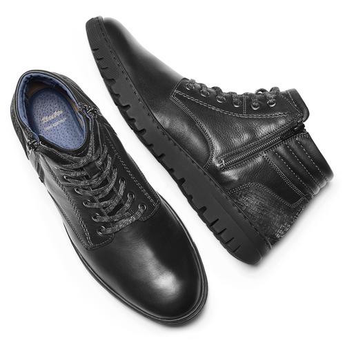 Sneakers alte da uomo bata, nero, 894-6719 - 19