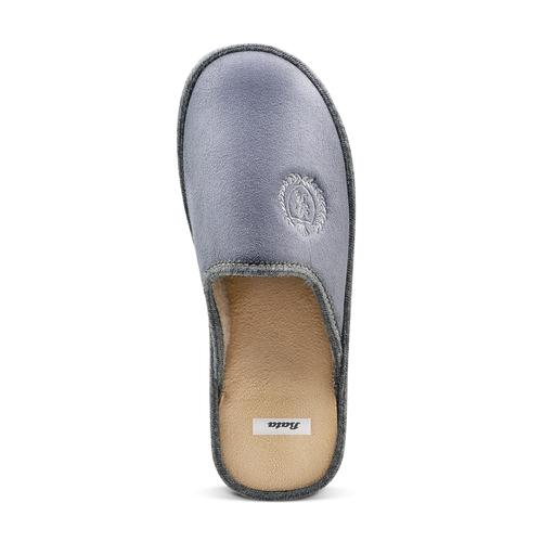 Pantofole da uomo bata, grigio, 879-2165 - 15