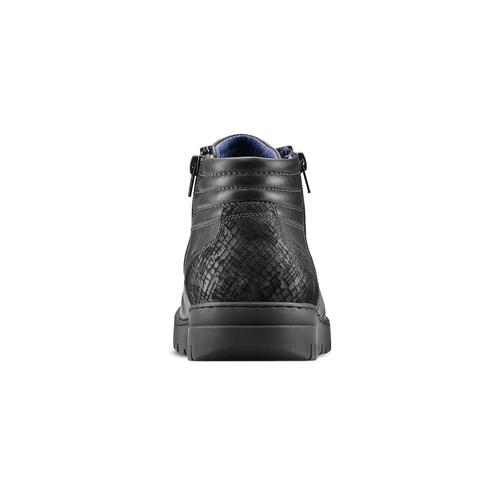 Sneakers alte da uomo bata, nero, 894-6719 - 16
