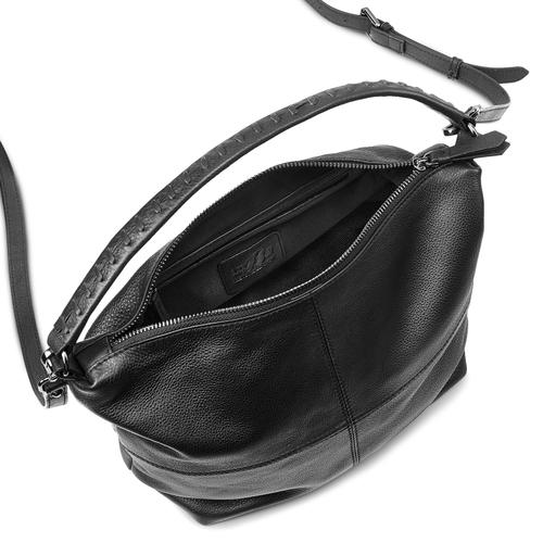 Borsa hobo in pelle bata, nero, 964-6121 - 16