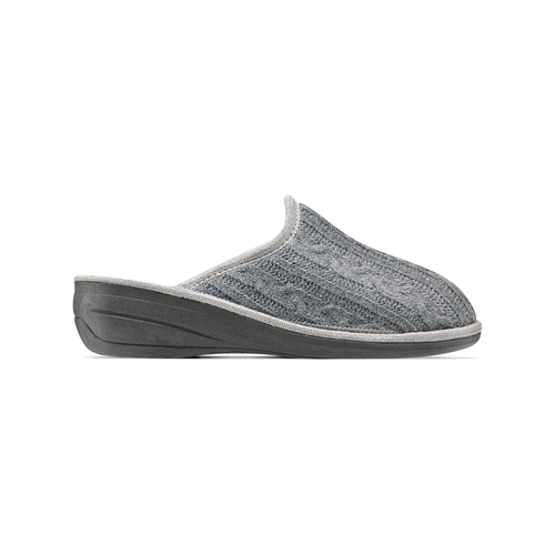 Pantofole in lana bata, grigio, 579-2370 - 26