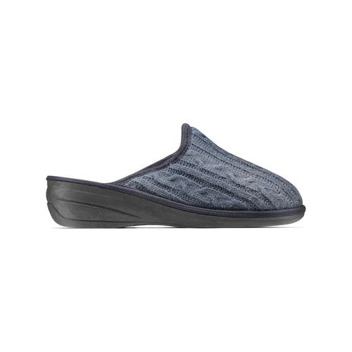 Pantofole da donna in lana bata, blu, 579-9370 - 26