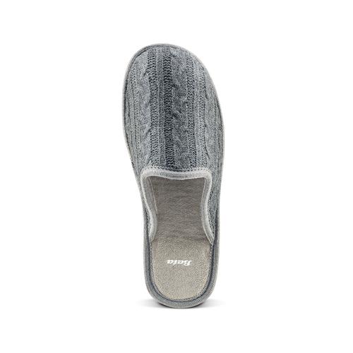 Pantofole in lana bata, grigio, 579-2370 - 15