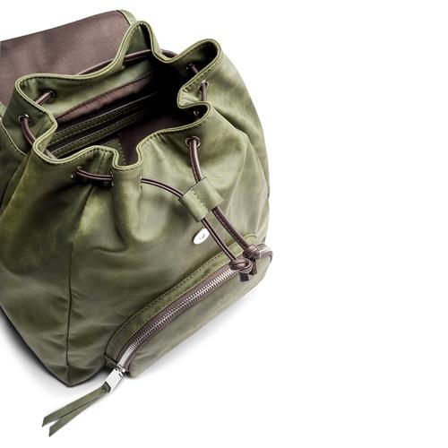 Zaino da donna con coulisse bata, verde, 961-7189 - 17